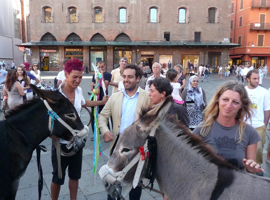 con l'assessore alla mobilità e la gentilissima vice sindaco di Bologna